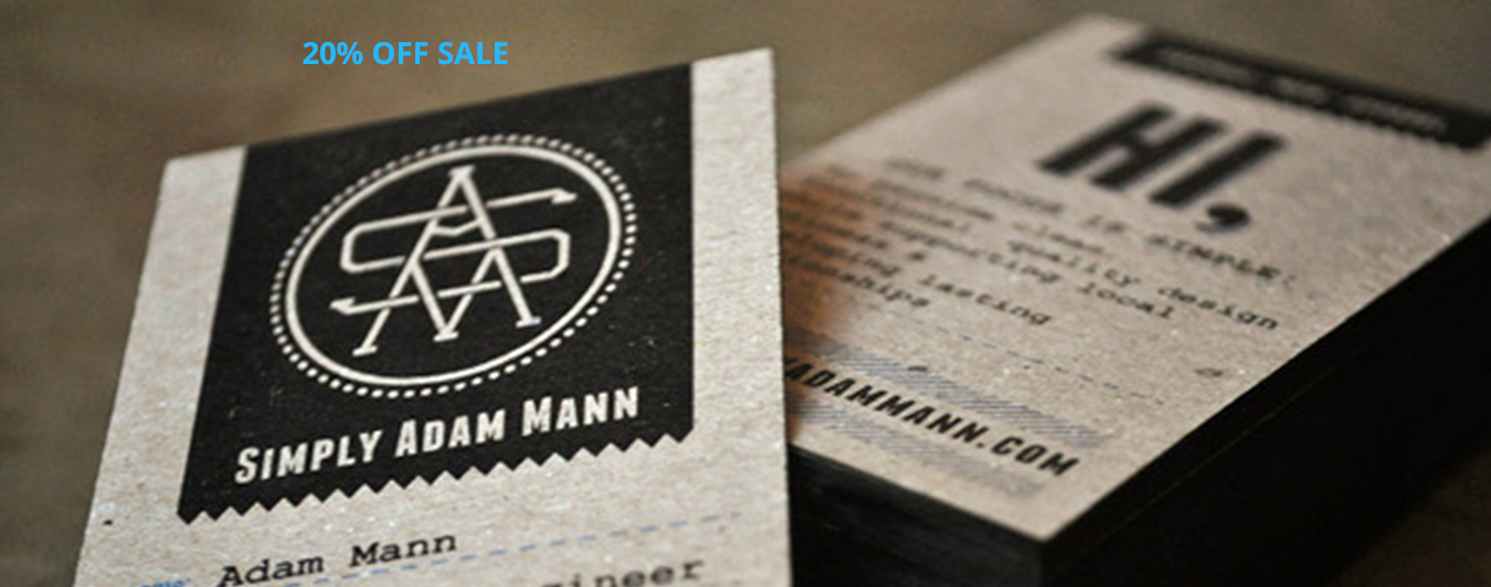 Save 20% on Brown Kraft Business Cards - limited time offer